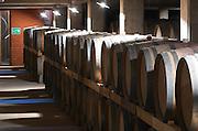 Oak barrel aging and fermentation cellar. Boutari Wineries, Steinmachos, Naoussa, Macedonia, Greece