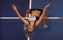 Ukraine's Yuliya Levchenko in action during the Women's High Jump during day one of the 2018 IAAF Indoor World Championships at The Arena Birmingham, Birmingham. PRESS ASSOCIATION Photo. Picture date: Thursday March 1, 2018. See PA story ATHLETICS Indoor. Photo credit should read: Simon Cooper/PA Wire.