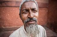 Indian Muslim man outside of Jama Masjid, Delhi, India.