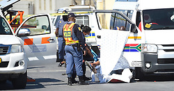 SOUTH AFRICA - Cape Town - 8 October  2020  -A CODETA taxi driver has been shot and killed  in Ntlazana road in  Kuyasa Khayelitsha .It is alleged that the killers were inside the taxi like any other passenger,they asked the driver to stop,near the Kuyasa Clinic as they were walking out thet sterted shooting.After shooting the driver they walked out towards the Kuyasa station . Picture: Phando Jikelo/African News Agency(ANA)