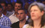 Boxing: Middleweight, Felix Sturm - Predrag Radosevic, Dortmund, 06.07.2013<br /> Lukas Podolski (Fußball, Arsenal London)<br /> ©pixathlon