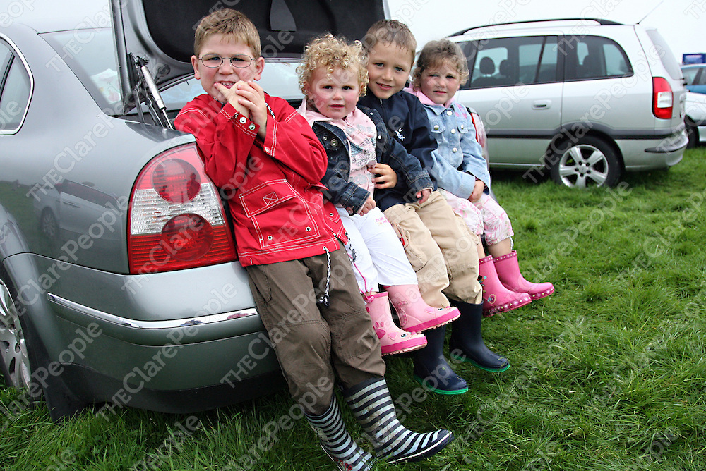 Cian, Leona, Dillon and Alana Reynolds at the annual Lisdoonvarna Races at the weekend.<br /><br />Photograph by Yvonne Vaughan.