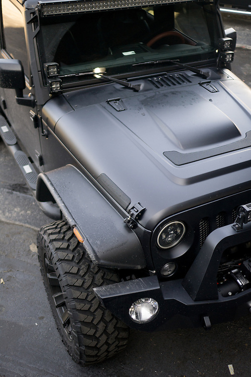 DORAL, FLORIDA, DECEMBER 11, 2015<br /> Customized Jeep Wrangler  which belongs to a professional athlete. The customization was done by The Auto Firm, owned by Alex Vega, which has a vast clientele of athletes and entertainers.<br /> (Photo by Angel Valentin/Freelance)