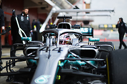 February 19, 2019 - Barcelona, Spain - English five time World Champions Lewis Hamilton of German team Mercedes-AMG Petronas Motosport driving his single-seater Mercedes W10 during Barcelona winter test in Catalunya Circuit in Montmel?, Spain, on February 19, 2019. (Credit Image: © Andrea Diodato/NurPhoto via ZUMA Press)