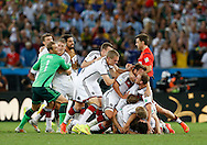 Germany celebrate winning during the 2014 FIFA World Cup Final at Maracana Stadium, Rio de Janeiro<br /> Picture by Andrew Tobin/Focus Images Ltd +44 7710 761829<br /> 13/07/2014