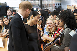 July 14, 2019 - London, London, United Kingdom - Image licensed to i-Images Picture Agency. 14/07/2019. London, United Kingdom. Prince Harry, the Duke of Sussex and Meghan Markle The Duchess of Sussex  at the premiere of The Lion King in London  (Credit Image: © Pool/i-Images via ZUMA Press)