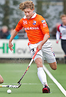 LAREN - Bloemendaal speler Floris de Ridder, zondag tijdens de hoofdklasse competitiewedstrijd mannen tussen Laren en Bloemendaal (1-4). COPYRIGHT KOEN SUYK