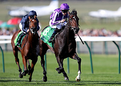 Mohawk ridden by Donnacha O'Brien (right) wins The Juddmonte Royal Lodge Stakes during day three of the Cambridgeshire Meeting at Newmarket Racecourse.