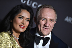 Salma Hayek and Francois-Henri Pinault attend the 2018 LACMA Art + Film Gala at LACMA on November 3, 2018 in Los Angeles, CA, USA. Photo by Lionel Hahn/ABACAPRESS.COM
