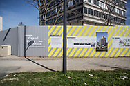 Mars 2017. Chantier T4. Seine-Saint-Denis. Stratéact. Montfermeil. Station Clichy-Montfermeil. Rue Utrillo. Tour Utrillo.
