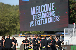 Saracens players arrive prior to kick off - Mandatory by-line: Arron Gent/JMP - 13/09/2020 - RUGBY - Allianz Park - London, England - Saracens v Exeter Chiefs - Gallagher Premiership Rugby