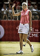 26JUL15 A poster of Kris Tamulis making a final birdie on 18 during Sunday's Final Round of The Meijer LPGA Classic at The Blythefield Country Club in Belmont, Michigan. (photo credit : kenneth e. dennis/kendennisphoto.com)