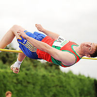 14 August 2010; Keith King, Clare County, in action during the Men's Division One High Jump at the Woodie's DIY National League Final 2010. Tullamore Harriers Stadium, Tullamore, Co. Offaly. Picture credit: Barry Cregg / SPORTSFILE *** NO REPRODUCTION FEE ***