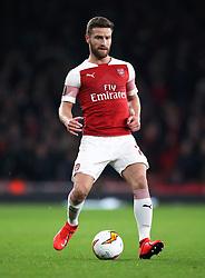 Arsenal's Shkodran Mustafi during the UEFA Europa League round of 32 second leg match at the Emirates Stadium, London.
