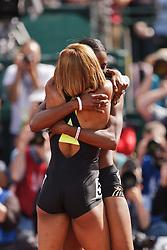 Sanya Richards-Ross, Women's 400 meters, champion, Olympian, hugs DeeDee Trotter after winning