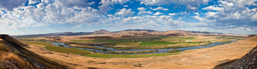 Open Edition Panoramic Prints<br /> Snake River from Pump Road Overlook in Southwest Idaho