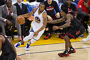 Golden State Warriors forward Andre Iguodala (9) drives to the basket against the Houston Rockets at Oracle Arena in Oakland, Calif., on March 31, 2017. (Stan Olszewski/Special to S.F. Examiner)