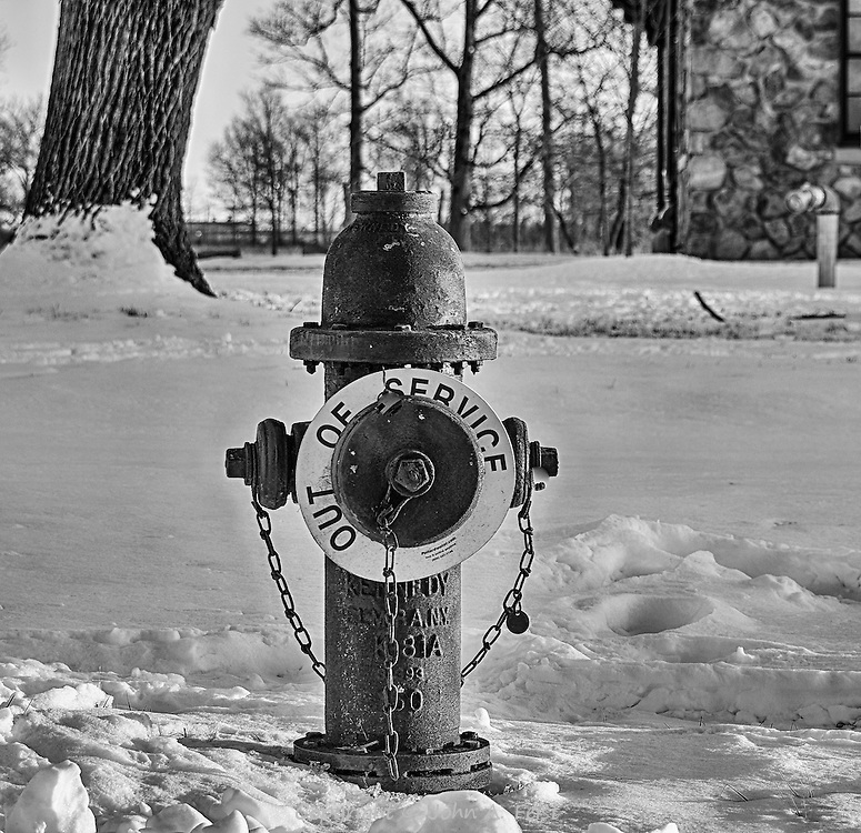 The sign on this hydrant struck me as ironic and funny, so I decided to capture it.