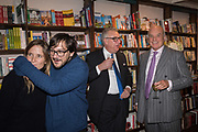 GRACE PILKINGTON; FRED ARMESTO; NICK ASHLEY; NICHOLAS COLERIDGE,  book launch for No Longer With Us by Naim Attallah. Daunt books. Marylebone. London. 28 Novermber 2018