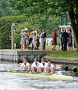 Henley, GREAT BRITAIN,    Crew moves away from the start., Temple Island. 2010 Henley Royal Regatta. 11:50:43  Wednesday  30/06/2010.  [Mandatory Credit: Peter Spurrier / Intersport-images] Rowing Courses, Henley Reach, Henley, ENGLAND . HRR.