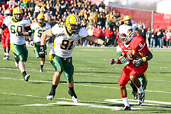 17 November 2012:  Mike Hardie, Donovan Harden during an NCAA Missouri Valley Football Conference football game between the North Dakota State Bison and the Illinois State Redbirds at Hancock Stadium in Normal IL