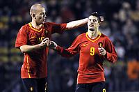 Fotball<br /> Privatlandskamp<br /> Luxemburg v Belgia<br /> 19.11.2008<br /> Foto: Photonews/Digitalsport<br /> NORWAY ONLY<br /> <br /> JOIE VREUGDE KEVIN MIRALLAS  STIJN HUYSEGEMS