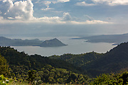 A view over Taal Volcano on the island of Luzon in the Philippines. The only active volcano it is part of the Pacific Ring of Fire, as are all of the volcanos in the Philippines.  (photo by Andrew Aitchison / In pictures via Getty Images)