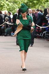 Anne, The Princes Royal arrives ahead of the wedding of Princess Eugenie to Jack Brooksbank at St George's Chapel in Windsor Castle.