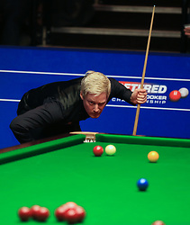 Neil Robertson on day five of the Betfred Snooker World Championships at the Crucible Theatre, Sheffield.