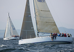 Largs Regatta Week 2015, hosted by Largs Sailing Club and Fairlie Yacht Club<br /> <br /> GBR5991T, Prime Suspect, Mills 36, Charles Frize, RNCYC<br /> <br /> Credit Marc Turner