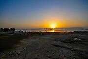 Sun rises over the Dead Sea, Israel