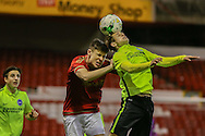 Brighton U18 Owen Moore   during the FA Youth Cup match between U18 Nottingham Forest and U18 Brighton at the City Ground, Nottingham, England on 10 December 2015. Photo by Simon Davies.