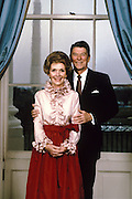 March 6, 2016 - Ronald Reagan's widow and First Lady from 1981-1989, has died at 94. The cause of death was congestive heart failure. Pictured: RONALD WILSON REAGAN poses with his wife NANCY DAVIS REAGAN for their first official White House portrait.<br /> ©Michael Evans/Exclusivepix Media