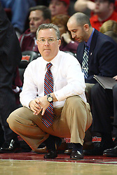 02 February 2013:  Barry Hinson during an NCAA Missouri Valley Conference mens basketball game where the Salukis of Southern Illinois lost to the Illinois State Redbirds for Retro-Night 83-47 in Redbird Arena, Normal IL