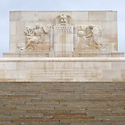 Bellicourt American Monument that commemorates the achievements and sacrifices of the 90,000 American troops who served in battle with the British Armies in France during 1917 and 1918. Bellicourt, Picardy, France.