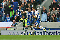 Football - 2013 / 2014 Championship  - Brighton & Hove Albion vs. Bolton Wanderers<br /> Brighton's Ashley Barnes celebrates scoring Brightons equaliser at The American Express Community Stadium <br /> <br /> Colorsport/Shaun Boggust