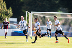 Klemen Šturm of Mura celebrates after scoring first goal for Mura during football match between NK Triglav and NS Mura in 5th Round of Prva liga Telekom Slovenije 2019/20, on August 10, 2019 in Sports park, Kranj, Slovenia. Photo by Vid Ponikvar / Sportida