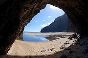Sea Arch, Honopu Beach, Napali Coast, Kauai, Hawaii