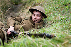 Northern World War Two Association Private Training Weekend For reenactors at Sutton Grange, Ripon. Yorkshire 15  May 2010 .Images © Paul David Drabble.