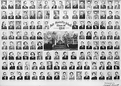 1954 Yale Divinity School Senior Portrait Class Group Photograph