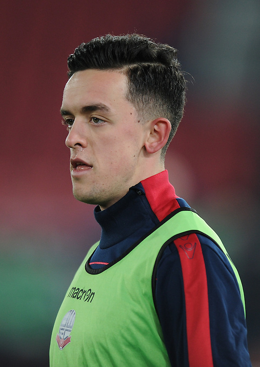 Bolton Wanderers' Zach Clough during the pre-match warm-up<br /> <br /> Photographer Ashley Western/CameraSport<br /> <br /> Emirates FA Cup Third Round Replay - Crystal Palace v Bolton Wanderers - Tuesday 17th January 2017 - Selhurst Park - London<br />  <br /> World Copyright © 2017 CameraSport. All rights reserved. 43 Linden Ave. Countesthorpe. Leicester. England. LE8 5PG - Tel: +44 (0) 116 277 4147 - admin@camerasport.com - www.camerasport.com