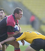 Watford, Hertfordshire, 08.12.2001, Zurich Premiership Rugby,  Richard Hill on the attacks, during the, Saracens vs Newcastle Falcons, match played at, Vicarage Road, <br /> [Mandatory Credit: Peter Spurrier/Intersport images]