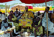 Ashanti chief with gold jewels at traditional Durbar gathering of tribal chiefs in Accra, Ghana, West Africa