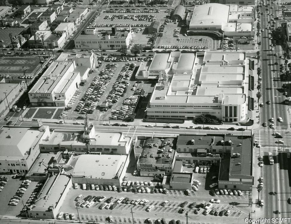 1954 Aerial of NBC Studios at Sunset Blvd & Vine St