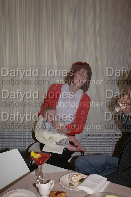 Valerie Goad and Scarlett Floyd. Launch of 'Lucy  Sykes Baby, New York' Selfridges. 14 April 2005. ONE TIME USE ONLY - DO NOT ARCHIVE  © Copyright Photograph by Dafydd Jones 66 Stockwell Park Rd. London SW9 0DA Tel 020 7733 0108 www.dafjones.com