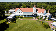 Chicago Golf Club House in Wheaton Illinois aerial drone image