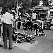 Ongeval Zuiderzee - Bestevear Huizen, motor tegen auto