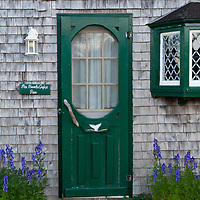 The Inn at Whale Cove cottages and restaurant, Grand Manan Island, New Brunswick, Canada. The Inn at Whale Cove has some of the best food on the island, and cottages filled with neat antiques. Photo by William Drumm.