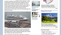 Royal Caribbean International's Oasis of the Seas Southampton visit cuttings.<br /> Daily Mail 161014 website