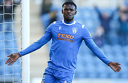 Theo Robinson of Colchester United celebrates scoring to make it 3-0 - Mandatory by-line: Arron Gent/JMP - 08/02/2020 - FOOTBALL - JobServe Community Stadium - Colchester, England - Colchester United v Plymouth Argyle - Sky Bet League Two
